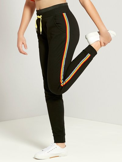 Teens' rainbow stripe joggers