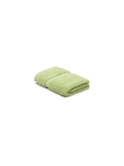Green combed cotton facecloth