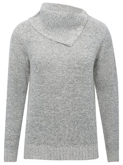 Split roll neck jumper
