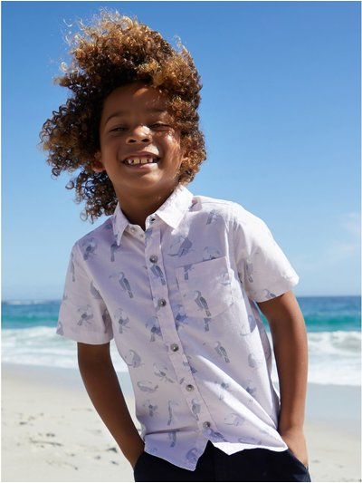 Pastel toucan print shirt (3-12yrs)