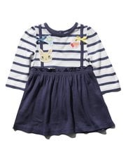 Two in one pinny badge dress