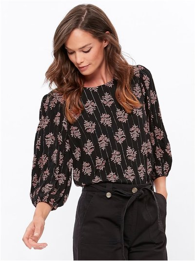 Printed crinkle top