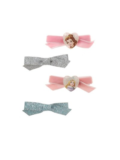 Princess Glitter Bow Clips
