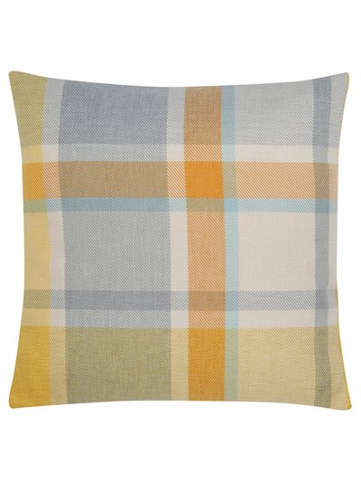 Yellow check cushion