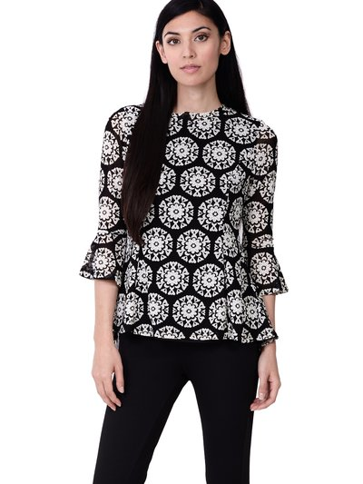 Izabel mosaic peplum top