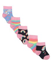 Rainbow socks five pack
