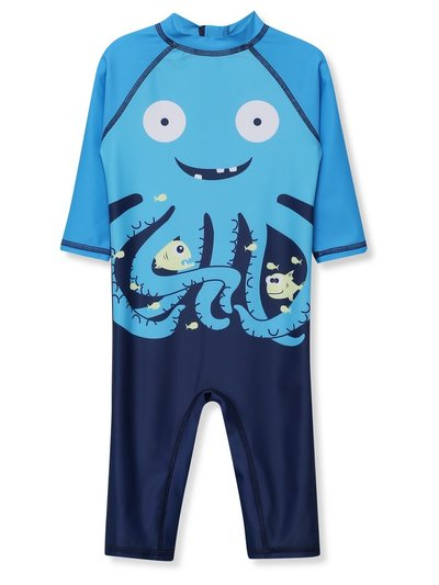Octopus print sunsafe swimsuit (9mths-5yrs)