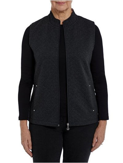 Penny Plain charcoal quilted gilet