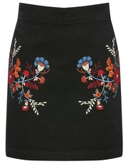 Teens' floral embroidered skirt