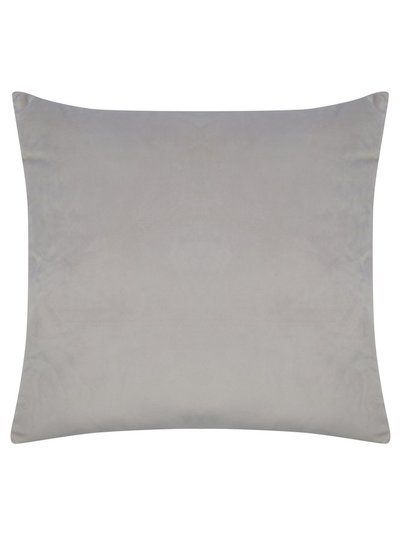 Warm grey velour cushion