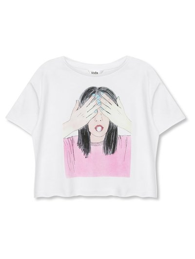Bubblegum girl print t-shirt (3-12yrs)
