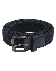 Navy woven stretch belt