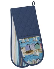 Nautical print double oven glove