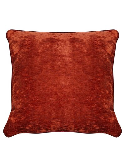 Reversible rust chenille cushion