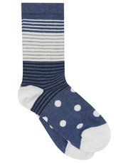 Stripe and polka dot socks