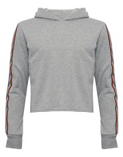 Teens' cropped rainbow hoody