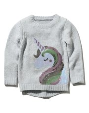 Unicorn glitter knit jumper