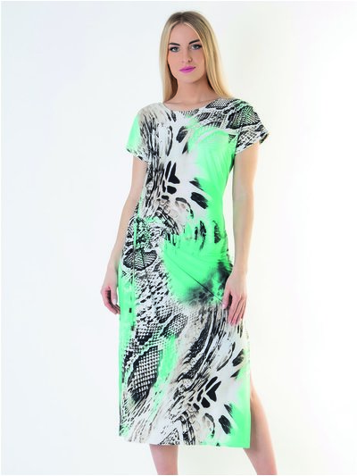Saloos Abstract Print Dress