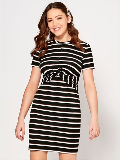 Teen stripe twist dress