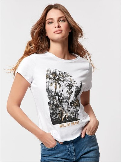 Petite wild at heart t-shirt