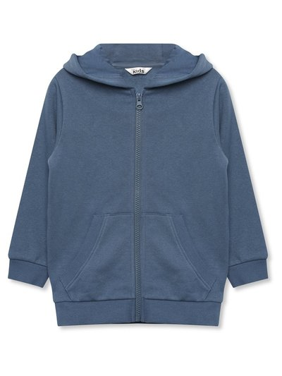Blue zip front hoodie (9mths-5yrs)