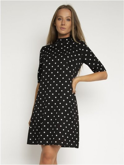 StylistPick spot print woven shift dress