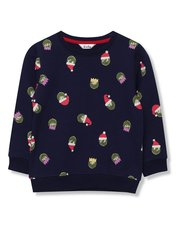 Brussel sprout Christmas sweatshirt (9mths-5yrs)