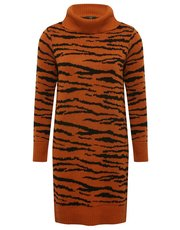 Petite zebra print jumper dress