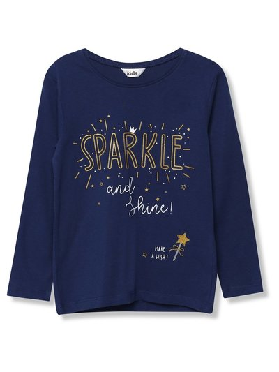 Sparkle slogan t-shirt (9mnths-5yrs)