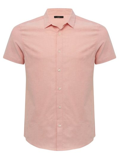 Stretch short sleeve oxford shirt