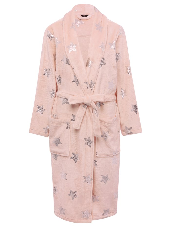 Silver Star Wrap Dressing Gown | Women\'s Dressing Gowns | M&Co
