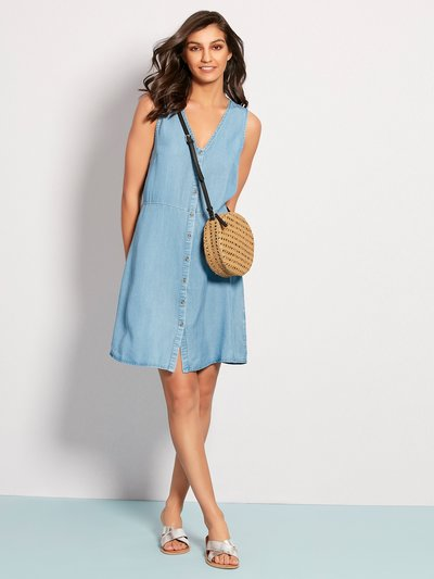 Vero Moda denim button front dress
