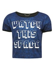 Teens' space slogan t-shirt
