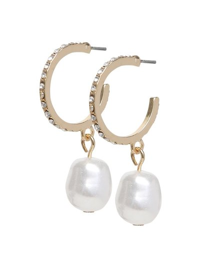 Pearl drop diamante earrings