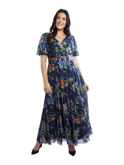 Scarlett and Jo Isabelle float sleeve maxi dress