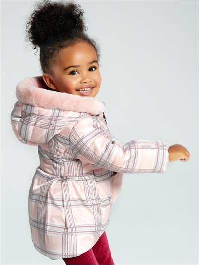 Check print padded coat (9mths-5yrs)