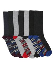 Stripe detail socks seven pack