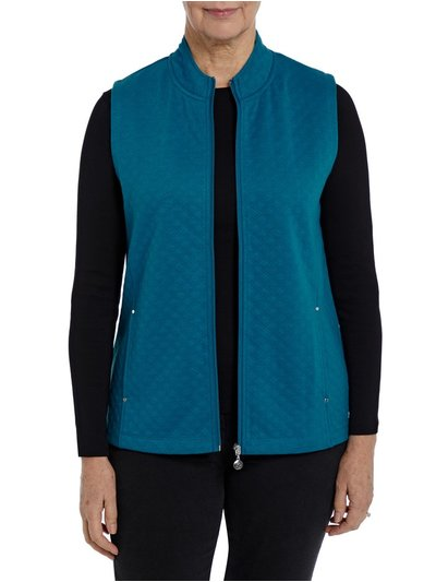 Penny Plain wedgewood quilted gilet