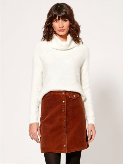 Vero Moda roll neck fluffy knit jumper