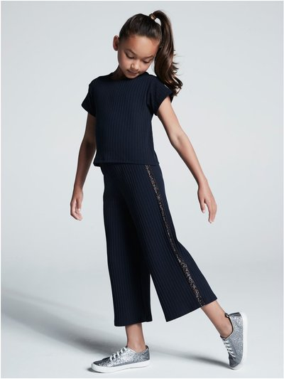 Side stripe glitter co-ord (3-12yrs)