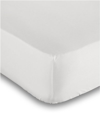 Pure cotton white deep fitted sheet