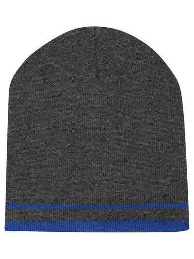 Thinsulate stripe beanie hat