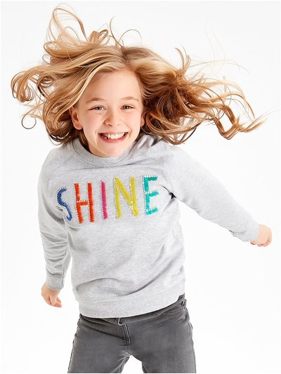 Rainbow shine slogan sweatshirt (3-12yrs)