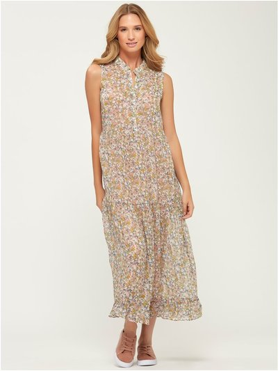 VILA floral tiered midi dress