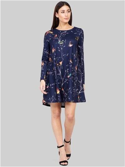 Izabel bird print swing dress