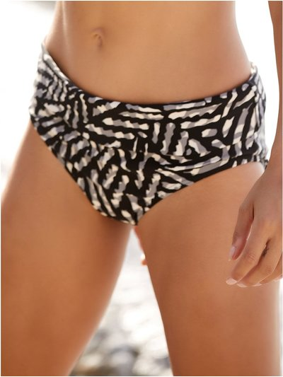 Geometric roll over bikini bottoms