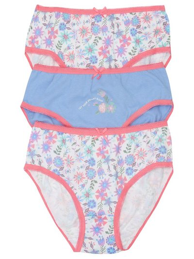 Floral briefs three pack (2-10yrs)