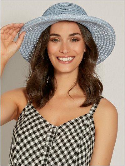 Sparkle wide brim beach hat