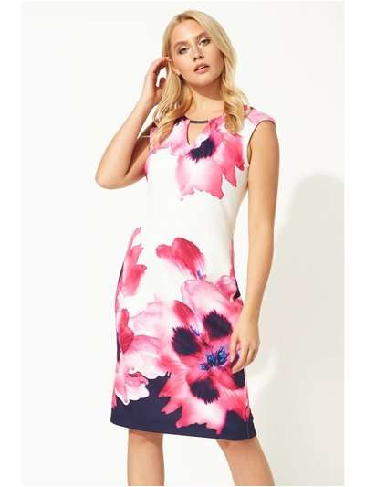 Roman Originals floral print fitted scuba dress