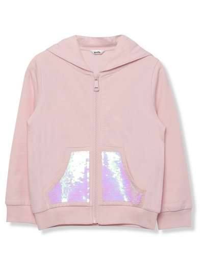 Two way sequin pocket hoodie (3 - 12 yrs)